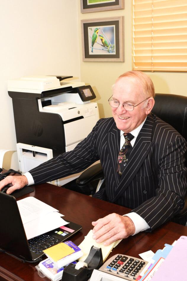 Dr. Sattler working